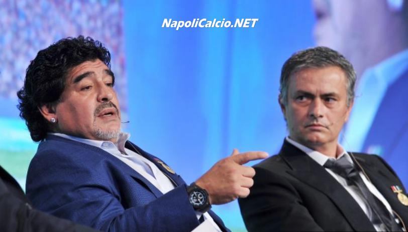 Maradona con Mourinho