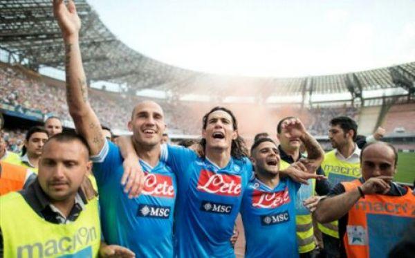 Cannavaro Cavani e Insigne in festa