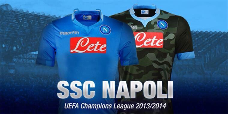 Napoli, le maglie per la Champions