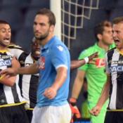 Udinese-Napoli 1-0, la rete di Danilo