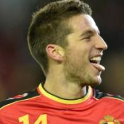 Mertens con la maglia del Belgio