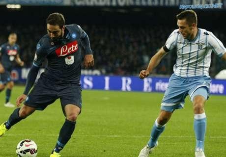 Higuain in Napoli-Lazio 0-1 di Coppa Italia