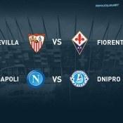 Napoli-Dnipro e Siviglia-Fiorentina