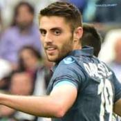 David Lopez segna il primo goal del Napoli allo Juventus Stadium