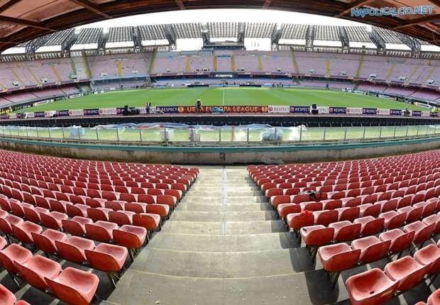 Una veduta dal San Paolo, lo stadio di Napoli