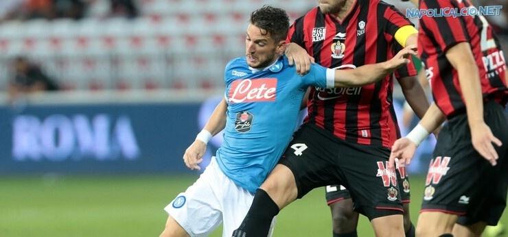 Nizza-Napoli 3-2: francesi in condizione fisica migliore, bene Mertens