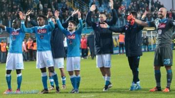 Napoli campione d'inverno, la festa di Frosinone