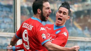 Sampdoria-Napoli 2-4, Higuain e Callejon
