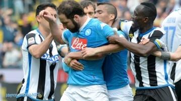 Udinese-Napoli 3-1, la reazione Higuain