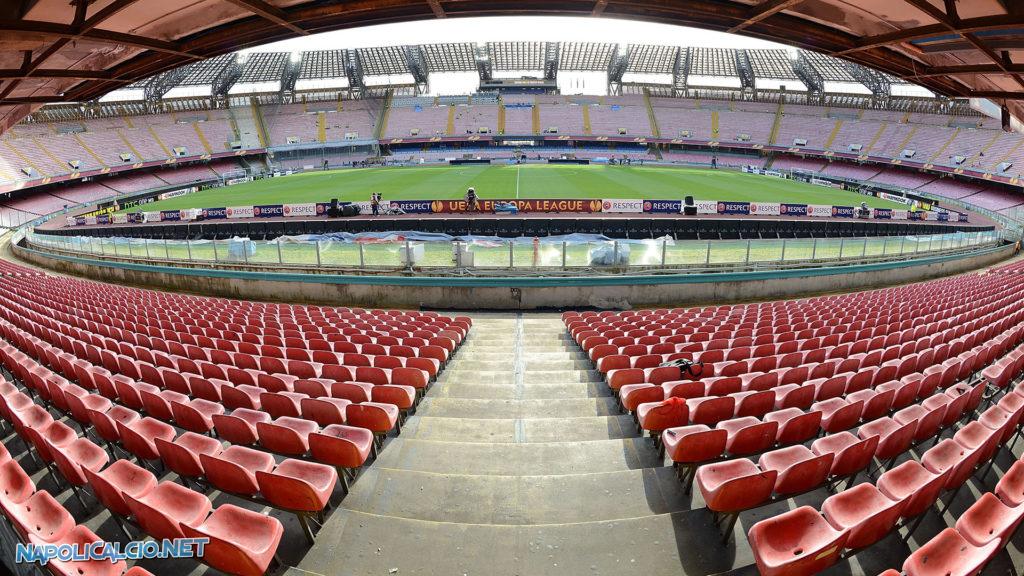 Una vista dallo stadio San Paolo