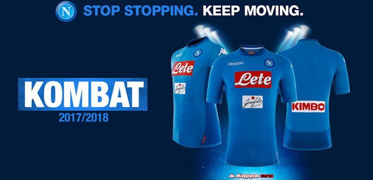 Presentata la nuova maglia azzurra del Napoli 2017/2018