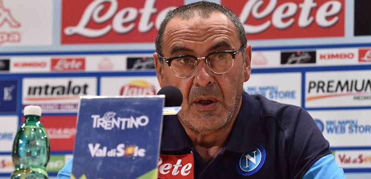 """Sarri perentorio: """"Il Napoli non è favorito per lo Scudetto, è una cazzata"""""""