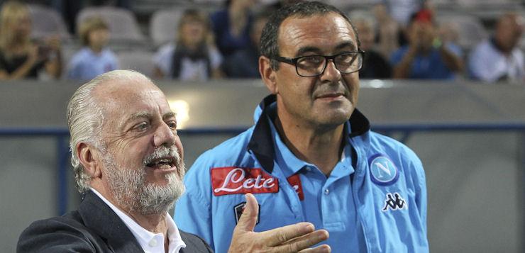"""Napoli, De Laurentiis su Sarri: """"Voleva smontarmi la squadra"""""""