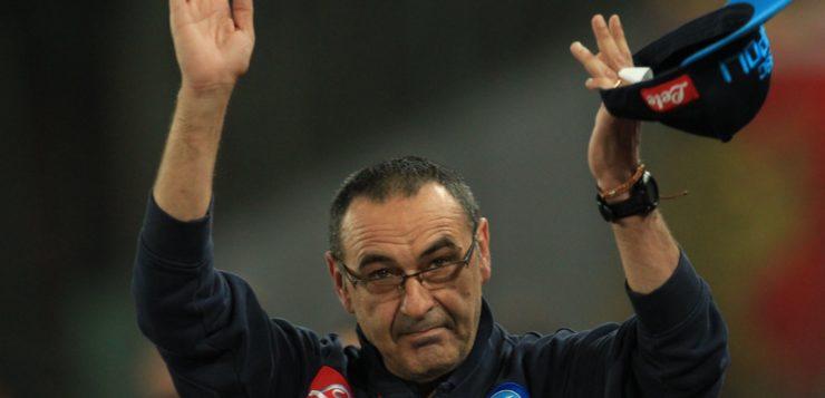 """Il Napoli saluta Sarri: """"Ti auguriamo di trovare calore, stima e considerazione"""""""