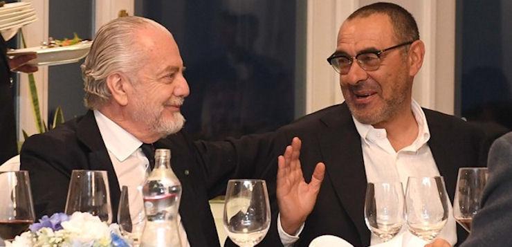 """De Laurentiis su Sarri: """"Nessuna risposta, il tempo è scaduto"""""""