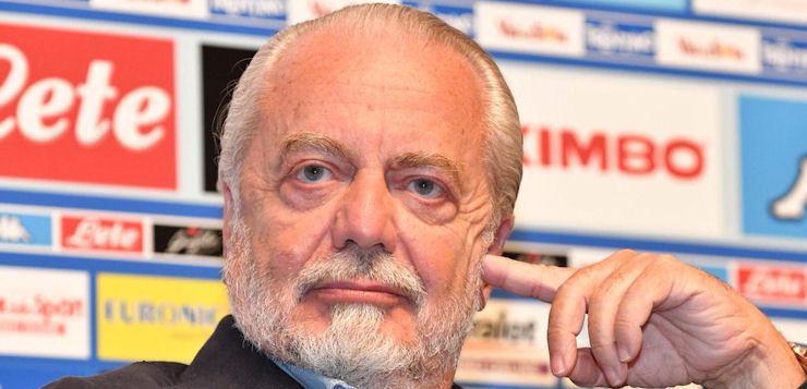 """De Laurentiis: """"Abbiamo lo spaccio all'interno degli stadi"""""""