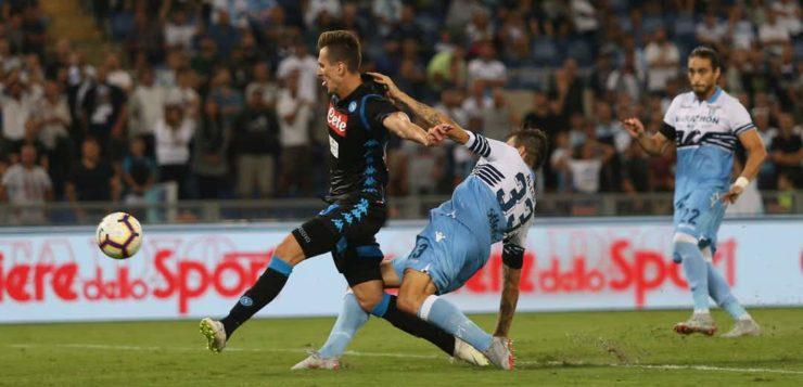 Lazio-Napoli 1-2, Milik: l'era di Ancelotti parte da lui