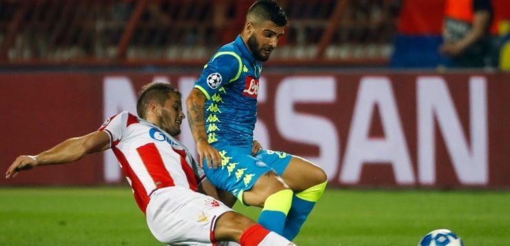 Stella Rossa-Napoli 0-0: gli azzurri dominano ma non aprono il catenaccio serbo