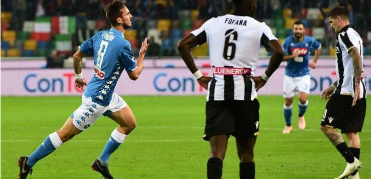 Udinese-Napoli 0-3: gli azzurri passano l'asfalto al Dacia Arena