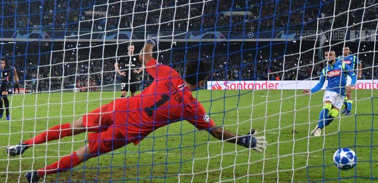 Napoli-PSG 1-1, fermati i francesi: al goal di Bernat risponde Insigne