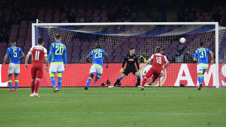 Napoli-Arsenal 0-1, goal Lacazette: azzurri eliminati dai Gunners - NAPOLI CALCIO