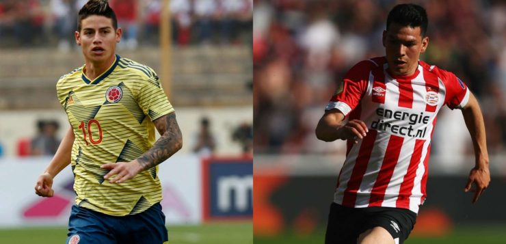 Calciomercato Napoli, doppio colpo in attacco: James Rodriguez più Lozano