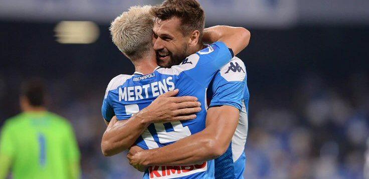 Napoli-Sampdoria 2-0: doppietta Mertens, brilla Elmas