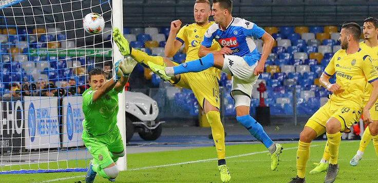 Napoli-Verona 2-0, doppietta Milik: gli azzurri tornano a vincere