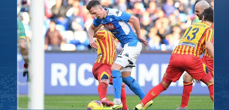 Napoli-Lecce 2-3: rigore su Milik, ma l'arbitro non ...