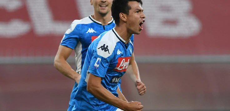 Genoa-Napoli 1-2: goal Mertens poi Lozano, azzurri al quinto posto