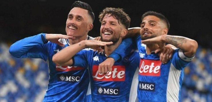 Napoli-Lazio 3-1: Insigne segna poi s'infortuna, biancocelesti quarti