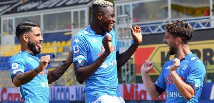 Parma-Napoli 0-2, Osimhen cambia la partita: goal Mertens e Insigne