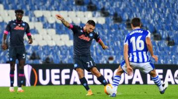 Real Sociedad-Napoli, goal Politano