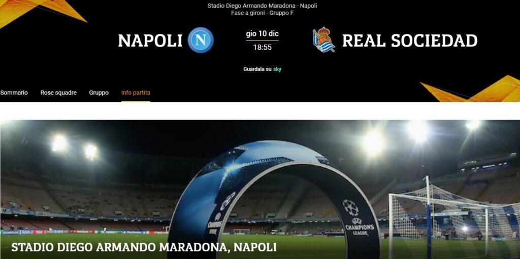 Napoli-Real Sociedad, Stadio Diego Armando Maradona