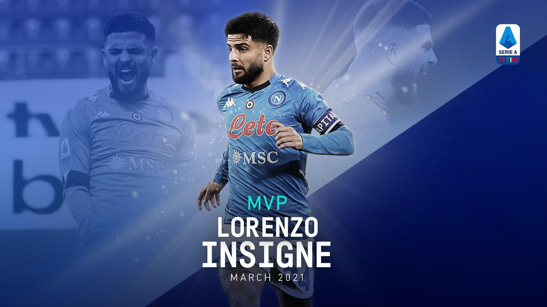 MVP Serie A, va ad Insigne il premio di miglior giocatore di marzo - NAPOLI CALCIO