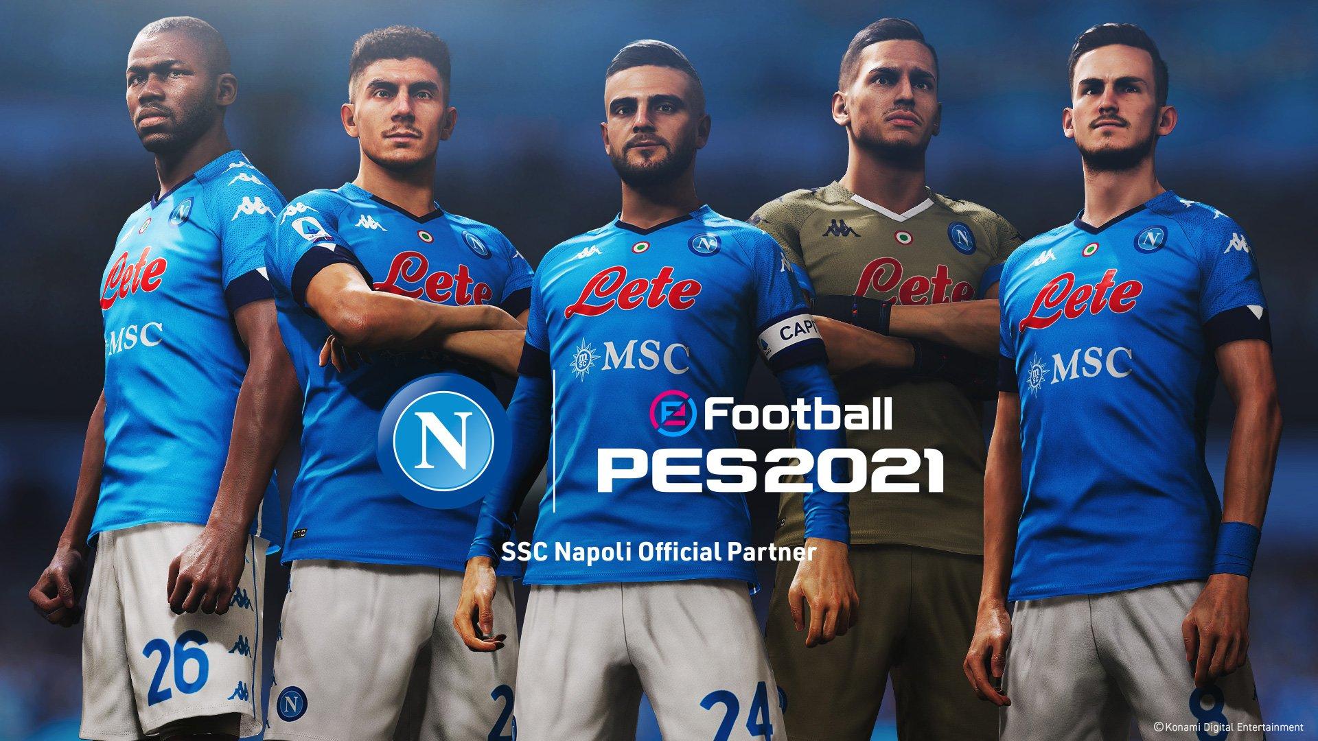 PES 2021: Konami annuncia una spettacolare partnership con il Napoli [Video] - NAPOLI CALCIO