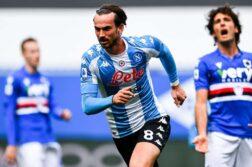 Sampdoria-Napoli 0-2, goal Fabian Ruiz