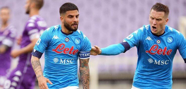 Fiorentina-Napoli 0-2, goal Insigne e Zielinski