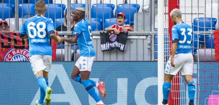 Bayern Monaco-Napoli 0-3, super Osimhen