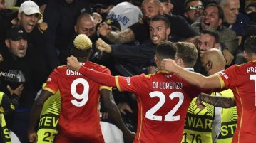 Leicester-Napoli 2-2, Osimhen, che doppietta