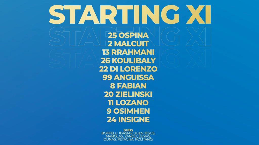 Leicester-Napoli, formazione ufficiale