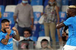 Napoli-Cagliari 2-0, goal Osimhen e Insigne